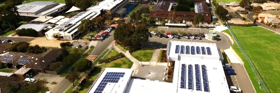 ReneSola Virtus II panels installed at Mazenod College by Enervest